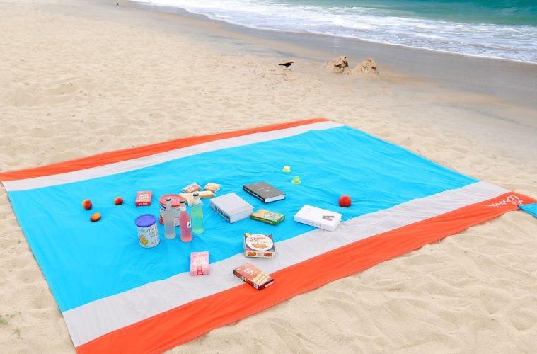 Serviette Anti-Sable - Acheter la serviette de plage qui évacue le sable